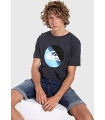 camiseta azul-multicolor quiksilver slab