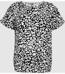 blus dress in svart::vit