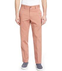 men's berle charleston pleated chino pants, size 34 - brown