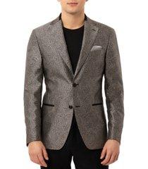 tallia men's slim-fit versatile leopard print dinner jacket