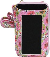 buxton women's mini spring in bloom rfid everywhere crossbody bag