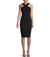 halter sheath dress