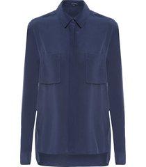 camisa feminina belle lisa - azul
