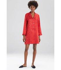 natori decadence sleepshirt pajamas, women's, red, size l natori