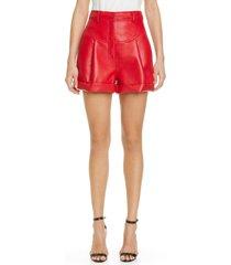 women's philosophy di lorenzo serafini pleated faux leather shorts