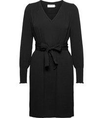 dress ls knälång klänning svart rosemunde