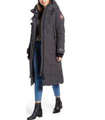 women's canada goose elmwood longline 625 fill power down jacket, size x-large - grey