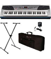 combo piano organeta con microfono estuche y base pressler pr2083c