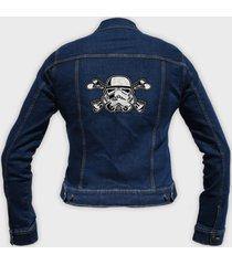 kurtka jeansowa damska stormtrooper crossbones