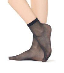calzedonia 20 denier sheer socks woman blue size tu
