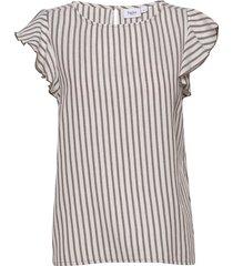 t1106, augustasz sl top blouse mouwloos multi/patroon saint tropez