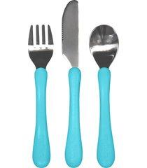 kit talheres azul - azul - menino - dafiti