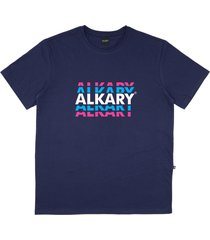 camiseta alkary logotipia azul marinho - kanui