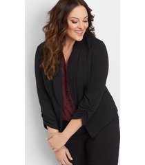 maurices plus size womens solid open front blazer