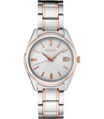 seiko women's essentials two-tone stainless steel bracelet watch 36mm