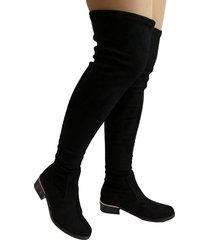 botas en microfibra licrada outfit negro