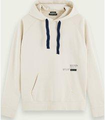 scotch & soda loose fit hoodie van biologisch katoen