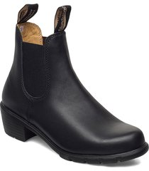 bl womens elastic sided heel boot shoes boots ankle boots ankle boot - heel svart blundst