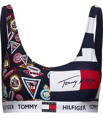 bralette print lingerie bras & tops bra without wire multi/mönstrad tommy hilfiger