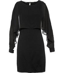 abito con mantella di chiffon (nero) - bodyflirt