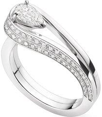 'serti inversé' diamond white gold ring