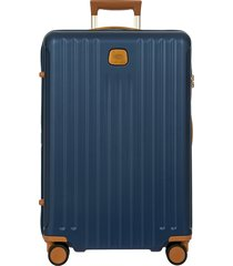 men's bric's capri 2.0 27-inch expandable rolling suitcase - blue