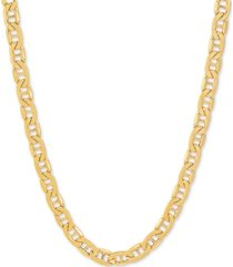 """italian gold men's marine link 22"""" chain necklace in 10k gold"""