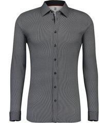 desoto heren overhemd jersey modern kent stip slim fit