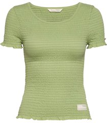 alluring smock t-shirt t-shirts & tops short-sleeved groen odd molly