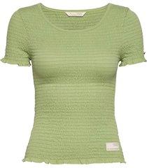 alluring smock t-shirt t-shirts & tops short-sleeved groen odd molly