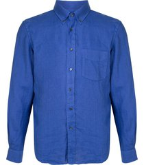 aspesi long-sleeve fitted shirt - blue