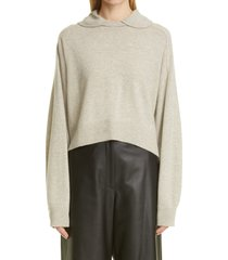 women's loulou studio clarion club collar cashmere sweater, size x-small - beige