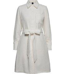 janelle corduroy dress knälång klänning vit gina tricot