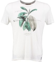 garcia wit slim fit t-shirt 50% linnen