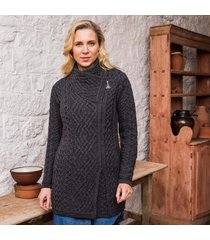 the moy cable coat charcoal xl