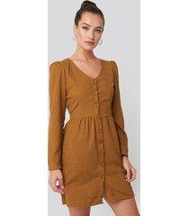trendyol button detailed mini dress - beige