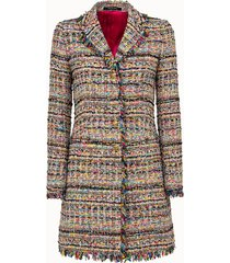 tagliatore cappotto in tweed multicolor
