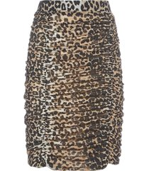 ganni leopard skirt