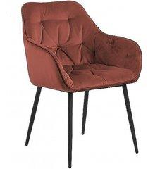 krzesło fotel tapicerowany wayn terracota