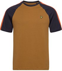 colour block t-shirt t-shirts short-sleeved brun lyle & scott