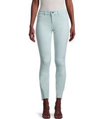dl1961 women's florence mid-rise skinny jeans - sky - size 32 (10-12)