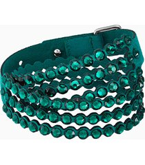braccialetto swarovski power collection, verde