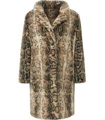 fake fur-jas animal-print van emilia lay beige