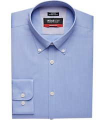 awearness kenneth cole awear-tech light blue slim fit dress shirt