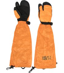 mm6 maison margiela xnorthface down gloves - orange