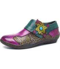 socofy scarpe basse in pelle con velcro