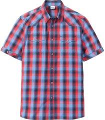 camicia a maniche corte con taschini (rosso) - john baner jeanswear