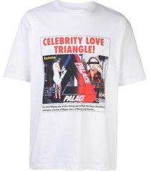 palace love triangle t-shirt - white