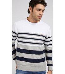 bawełniany sweter w paski