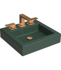 cuba de apoio quadrada kale green com mesa 45x43cm l737 - deca - deca
